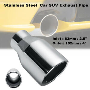 """2.5"""" Stainless Steel Car SUV Exhaust Pipe Muffler End Tip 63mm- 102mm Polishing"""
