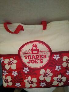 Vintage Trader Joe's Hawaiian Hibiscus Flower Insulated  Bag nwt