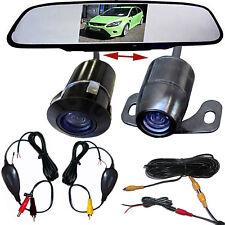 Rückfahrkamera Einparkhilfe Einbau Autokamera 170° mit Rückspiegel Monitor Funk