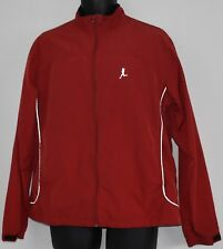 Runners Jacket Womens XL Red Reflective Detailing Wind & Rain Resistant Pockets