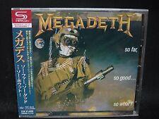 MEGADETH So Far, So Good... So What ! + 4 JAPAN SHM CD Metallica Angra MD.45
