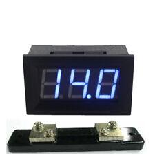 Digital DC 50A Ammeter Amp Panel Current Meter Blue LED + 75mV Shunt Resistor