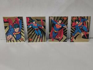 The Return of Superman 1993 Skybox Gold Foil Insert Card Set SP1-SP4 Clark Kent
