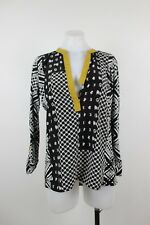Anthropologie Tiny Abstract Check Tunic Top Medium FLAWS