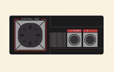 Retro Gaming enmarcado impresión: Sega Master System Control Pad (Imagen Arte Cartel)