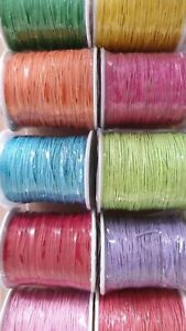 Wachsschnur Baumwollband zum Basteln/Schmuckherstellung Mehrfarbig Rund Ø 1mm