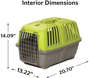 """22"""" ~ Hard Sided ~ Midwest Spree ~ Travel XS Dog Carrier ~ Green/Gray ~ NEW"""