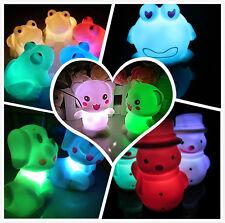 Cambia De Color Muñeco de nieve Rana Perro lámpara LED decoración Navidad