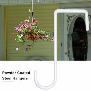 Vinyl Fence Hook Patio Hook White Powder Coated Steel Hangers Outdoor Hanging