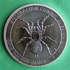 2015 Australian Silver Funnel-Web Spider 1 oz Silver Bullion Coin Perth Mint