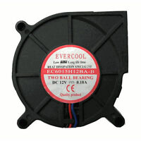 Evercool 60mm x 15mm 12V DC Dual Ball Bearing Blower Fan 3 pin EC6015H12BA-B