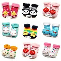 SPIRIUS Baby Boys Girls socks Booties Indoor Shoes Slippers animal cartoon