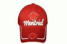 MONTREAL Title & Maple Leaf RED  Embroidered HAT CAP ..  NEW