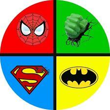 Superhero/  Super Hero 7inch  Edible Image Cake Cupcake Topper Birthday