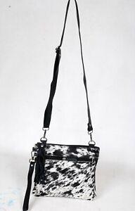 Real Cowhide Cross body Purse Handbag & Shoulder Bag Clutch Cow Leather SB-6963