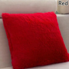 Soft Fur Plush Square Throw Pillow Cases Home Decor Sofa Waist Cushion Cover VNC