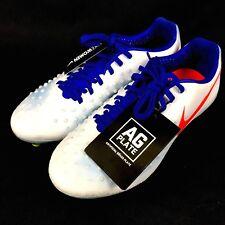 837d93ce0b7 Nike Womens Magista Opus II AG-PRO ACC White Blue Crimson 844217-164 Size
