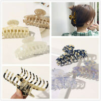 Women Large Scrub Plastic Hair Claw Clips Hollow Geometric Acetate Hair Claws