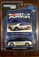 GreenLight 2008 Dodge Charger - Virginia State Police (MINT) Hot Pursuit 2