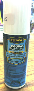 New Pyranha Equine Roll-On Fly Repellant Pest Spray Kills Repels Horse Tack