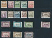 "FIUME 1918, Mi. 8-25 */MH, ""Overprints"" complete!! Mi. 470,--!!!"