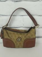 Dooney & Bourke Purse Signature Brown Logo Shoulder Bag Handbag K7829718 Vintage