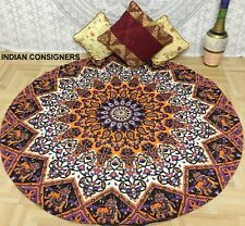 Mandala Ombre Wonderful Round Special Beach Towel Yoga Mat Roundie Cotton Indian