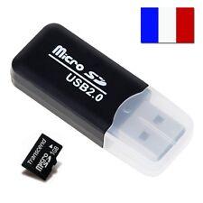 LECTEUR CARTE MICRO SD MICROSD USB1 UBS2 USB2.0 ADAPTATEUR CLE USB CARD READER