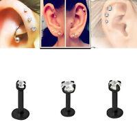 2 Pcs Round Tragus Lip Ring Monroe Ear Cartilage Stud Earring Body Piercing Zd