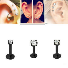 2X Round Tragus Lip Ring Monroe Ear Cartilage Stud Earring Body Piercing Jiu