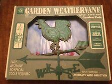 Good Directions Rooster Yard Garden Weathervane, Blue Verde Copper, Patina