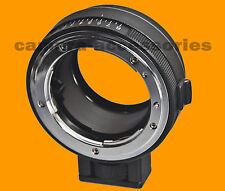Control de apertura Nikon Nikkor Lente Sony Nex Alpha E-mount Adaptador C / Trípode S