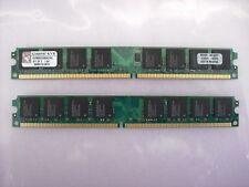 Kingston, 4GB desktop RAM,DDR2 6400, 2 x 2GB, Non-ECC, works for Intel & AMD