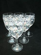 "Vtg Arcopal VICTORIA Set of 6-6"" Water Wine Goblets Stem Glassware 4 oz. EC"