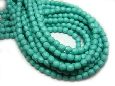 3mm Saturated Teal Czech Glass Firepolished Round Beads (50) #3631