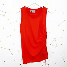 Athleta Tank Top Size Small S Red Scrunch Drawstring Rashguard Swimsuit Active