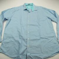 Bugatchi Uomo Mens Button Front Casual Shirt Men's Checks 3XL Blue Green Pink