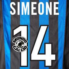 SIMEONE PERSONALIZZAZIONE INTER PRINT NOME NUMERO HOME KIT NAME SET 1998-99