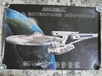 "STAR TREK 1986 IV VOYAGE HOME USS ENTERPRISE NCC-1701 POSTER 36"" x 24"" VINTAGE"