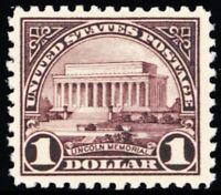 571, Mint $1 VF NH Pretty Stamp - Lincoln Memorial - Stuart Katz