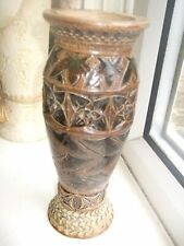 An EXTREMELY RARE and VERY EARLY Martin Brothers saltglaze vase C.1870's.