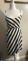 NWT Charlotte Russe Summer Dress Black/White Stripes Size Small Spaghetti Straps