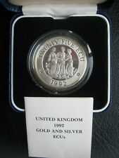 More details for united kingdom 1992 piedfort silver proof 25 ecu crown-size coin ~ three graces