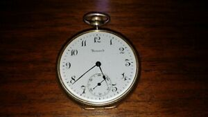 Howard Series 7, Model 1908 Pocket Watch, 17J 12S. Gold Filled. Runs well.
