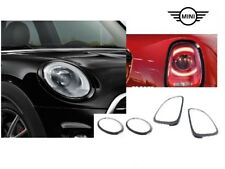 Original MINI JCW Black-Line Zierringe schwarz 2285495+2285496+7449209+7449210