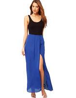 Premium Women's Vest Dress Summer Ladies Chiffon Sleeveless Party Long Maxi