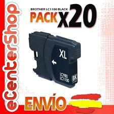 20 Cartuchos de Tinta Negra LC1100 NON-OEM Brother MFC-6490CW / MFC6490CW