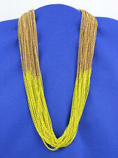 Jessica Simpson Goldtone Lime Green Block Party Multi Chain Collar Necklace $58