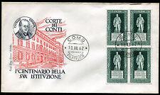 1962 - Corte dei Conti - Quartina n.955  - Busta F.D.C.