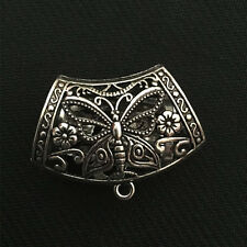 P1005 2pc Tibetan Silver butterfly Pendant Hanger Bails Necklace scarf Connector